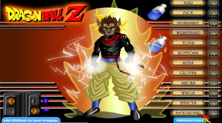 Screenshot - Dragon Ball Z Dress Up
